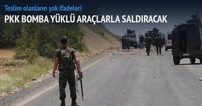 PKK bomba yüklü araçlarla saldıracak
