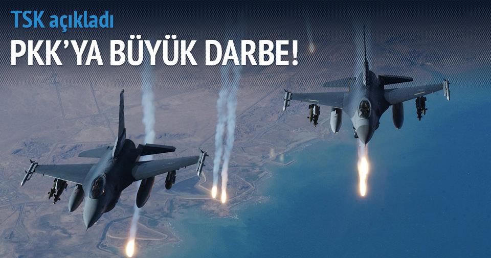 PKK'ya hava operasyonu: 17 hedef vuruldu