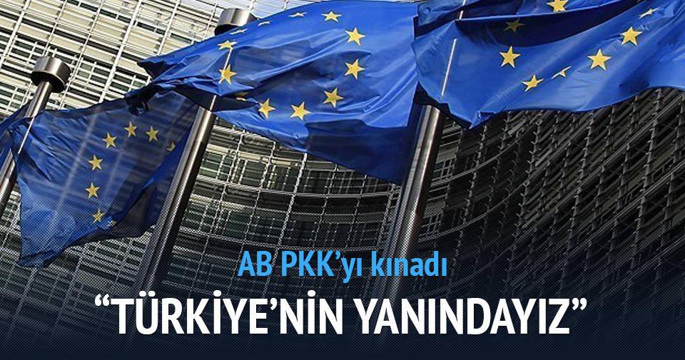 Avrupa Birliği PKK'yı kınadı