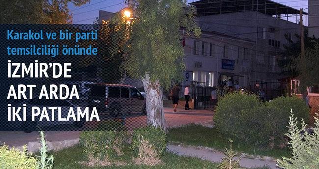 İzmir'de art arda iki patlama