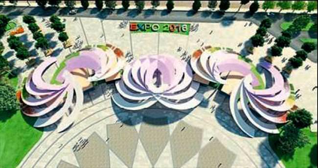 EXPO 2016'ya şakayıklı kapı