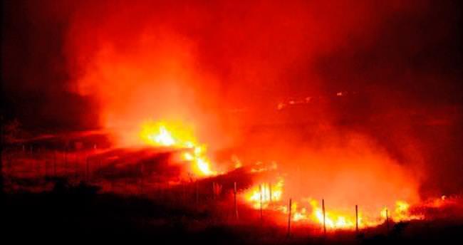 Gaziantep'te anız yangını