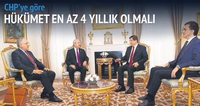 CHP en az 4 yıllık hükümet istiyor