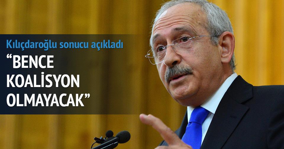 Kılıçdaroğlu: Bence koalisyon olmayacak