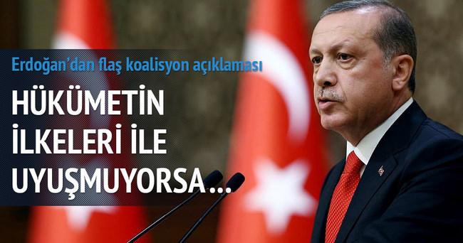 Erdoğan'dan önemli koalisyon açıklaması