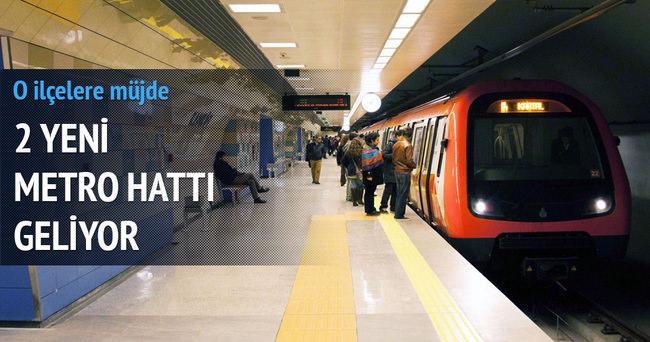 İstanbul'a iki yeni metro hattı müjdesi daha
