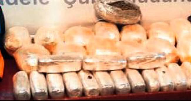 57 kilogram esrar ele geçirildi