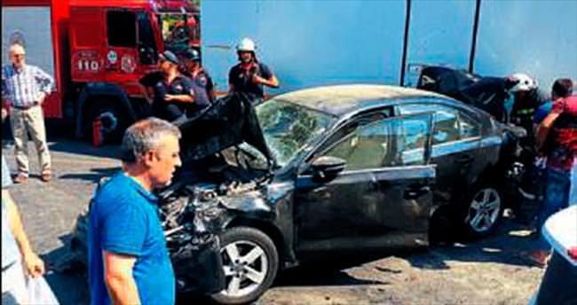 Aydın'daki kazaya yedi araç karıştı