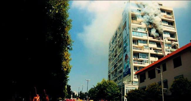 Hukukçular Sitesi'nde korkutan yangın