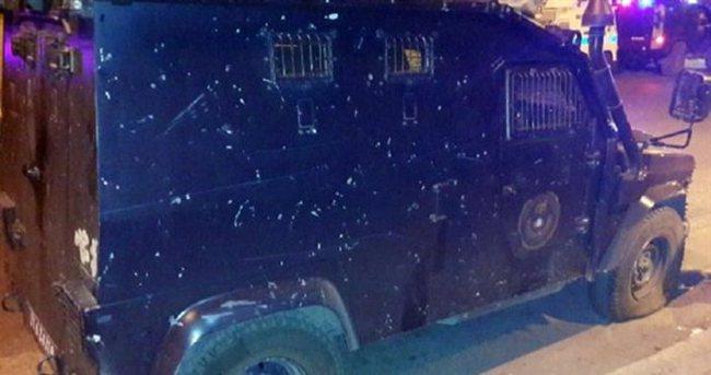 Polis aracına silahlı saldırı