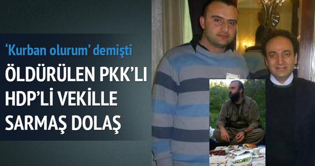HDP'li Osman Baydemir'le öldürülen PKK'lı yan yana