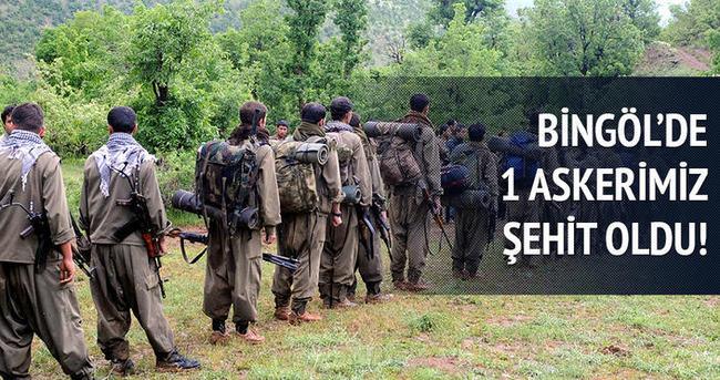 Bingöl'de 1 askerimiz şehit oldu