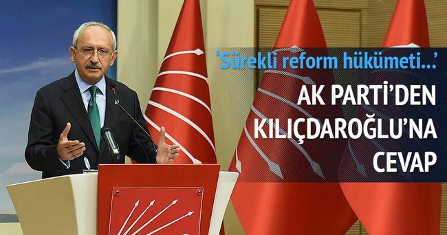 AK Parti'den Kılıçdaroğlu'na cevap