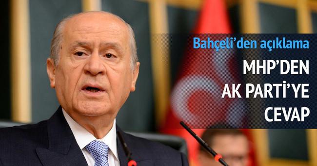 MHP'de AK Parti'ye cevap