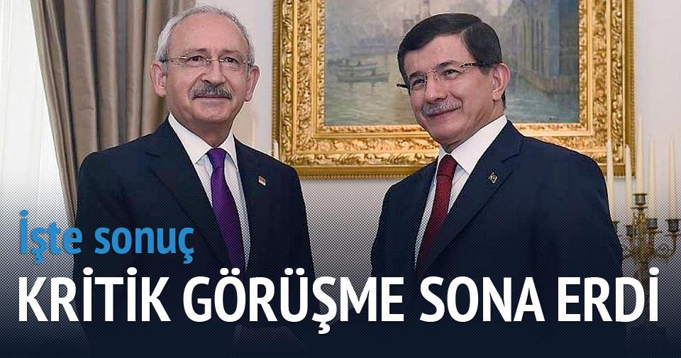 Davutoğlu ve Kılıçdaroğlu görüşmesi sona erdi