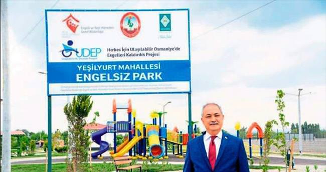 Üç mahalleye engelsiz park