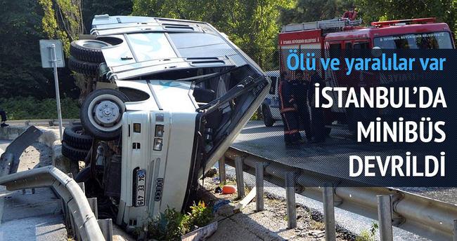 İstanbul'da minibüs devrildi: 1 ölü, 12 yaralı