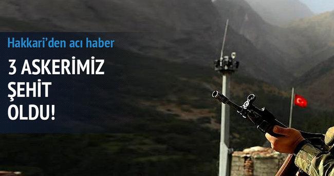 Hakkari'de hain tuzak: 3 şehit
