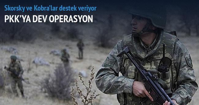 Bingöl'de PKK'ya büyük operasyon başlatıldı