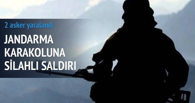 Jandarma karakoluna silahlı saldırı: 2 asker yaralandı