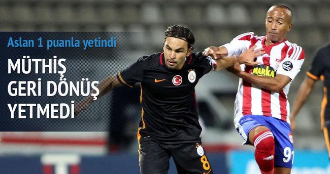 Galatasaray Sivas'ta berabere kaldı