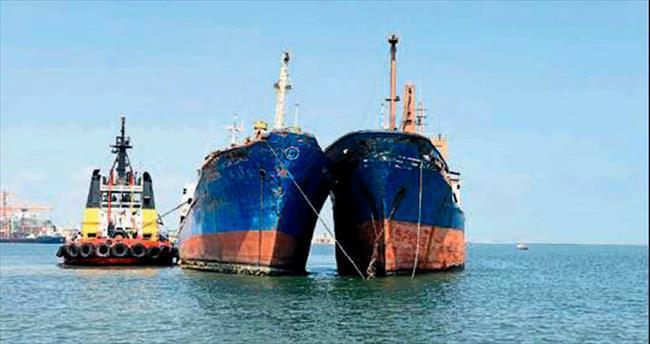 Batmak üzere olan gemiler kurtarıldı