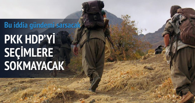 'PKK, HDP'yi  seçimlere sokmayacak' iddiası