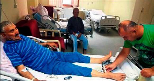 Kesilecek bacağını doktoru kurtardı