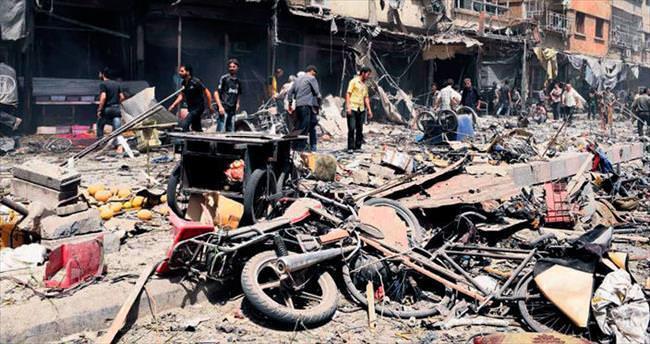 Esad pazara bomba yağdırdı: 100 ölü
