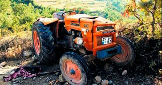 Traktör devrildi, üçüzler ayrıldı