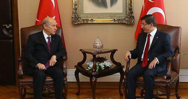 Başbakan Davutoğlu ile Bahçeli görüştü