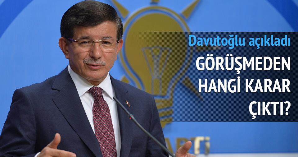 Davutoğlu: MHP hayır dedi