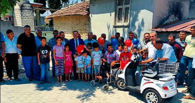 Engelli vatandaşa araç desteği