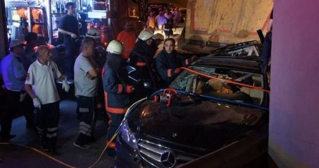 Vatan Caddesi'nde feci kaza