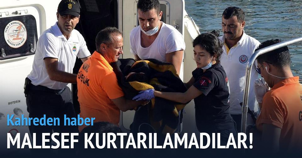 Bodrum'da mülteci botu battı: 5 ölü