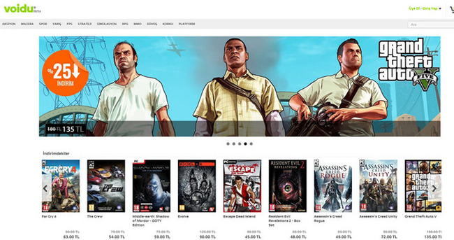 Voidu: Türkiye'nin ilk bağımsız dijital oyun mağazası