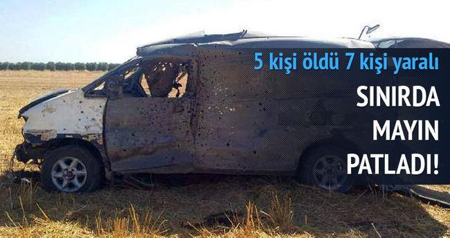 Türkmenlerin aracı geçerken mayın patladı: 5 ölü