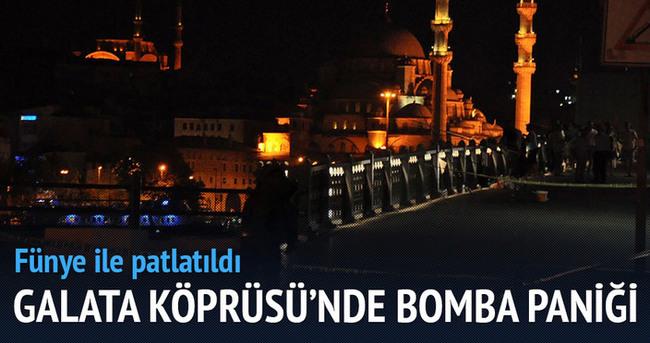 Galata Köprüsü'nde bomba paniği!