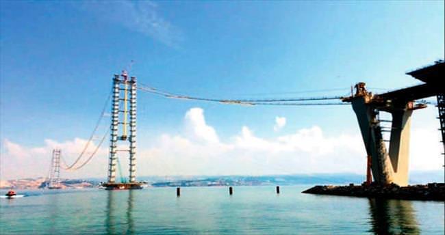 İzmit köprüsünde sıra ana kablolarda