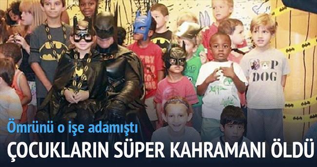 Hasta çocukların 'Batman'i öldü