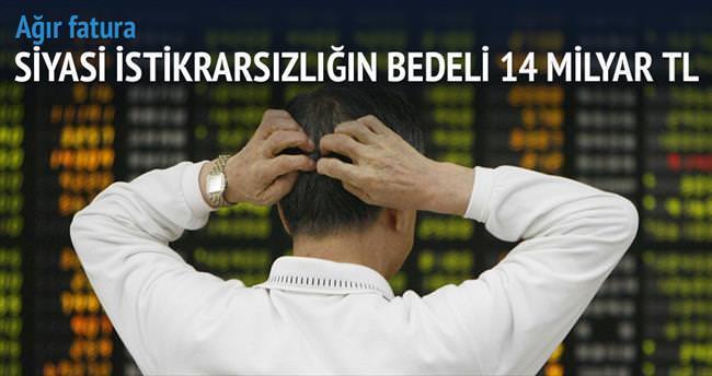 Siyasi belirsizliğin faturası 14 milyar TL