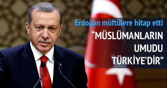 Cumhurbaşkanı Erdoğan müftülere hitap etti