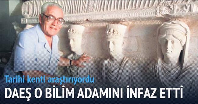 DAEŞ'ten Palmira arkeoloğuna infaz