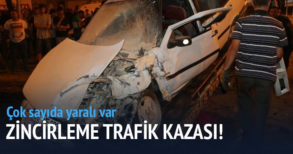Bafra'da zincirleme trafik kazası: 9 yaralı