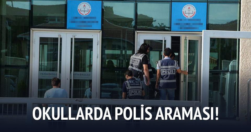 Okullarda polis araması