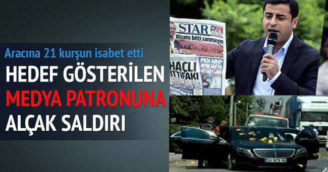 Demirtaş'ın hedef gösterdiği medya patronuna alçak saldırı