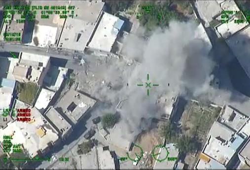 Silvan'daki operasyon havadan görüntülendi