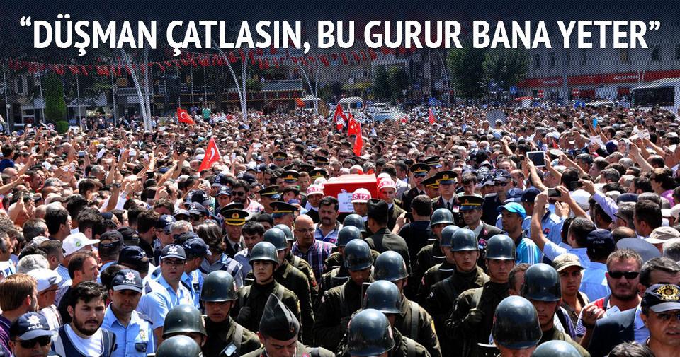 Şehit teğmen Hubeyib Turan'ı 10 bin kişi uğurladı
