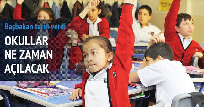 Okullar ne zaman açılacak? Başbakan tarih verdi