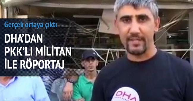 PKK'lı terörist yöre halkı gibi röportaj verdi